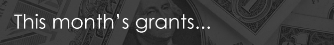 This month's grants.